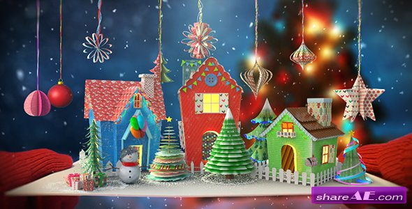 Videohive Christmas Paper Card