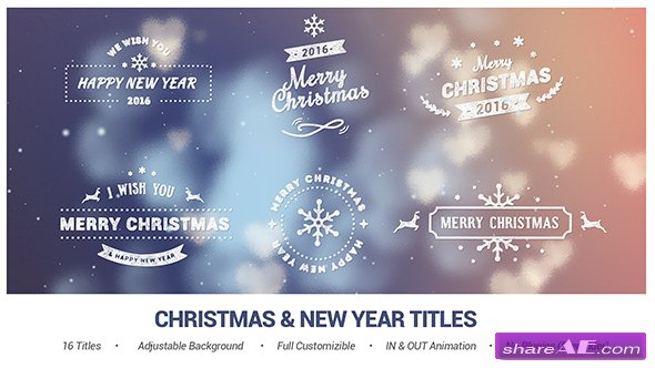Videohive Christmas & New Year Titles