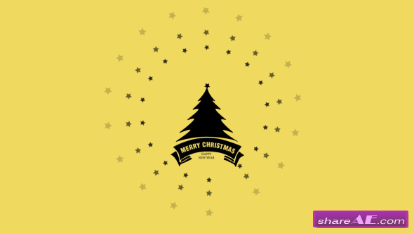 Videohive Flat Christmas and New Year Greetings