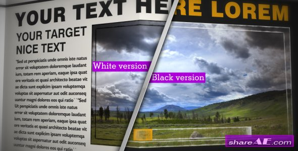 Videohive NEWSPAPER Black&White_CS4