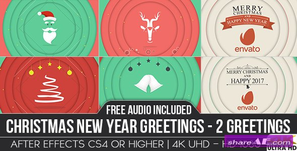 Videohive Christmas New Year Greetings