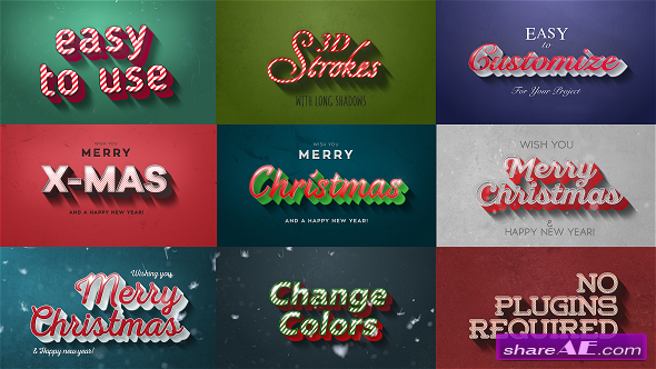 Videohive Christmas Motion Titles