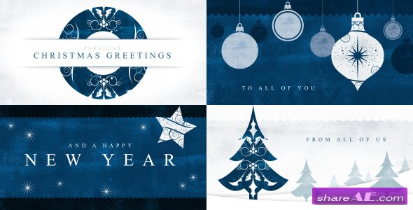 Videohive Parallax Christmas Greetings