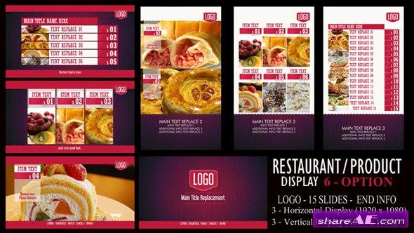 Videohive Digital Signage Restaurant/Product