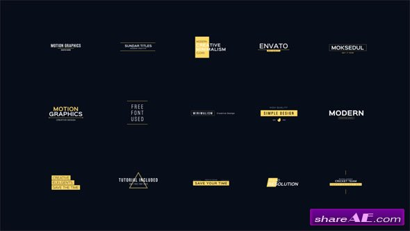 Videohive 30 Cool and Clean Motion Titles