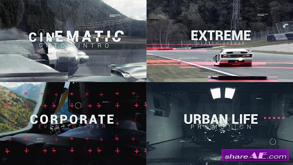 Videohive Cinematic Glitch Epic Trailer