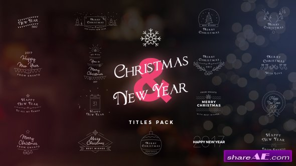 Videohive 17 Christmas & New Year Titles