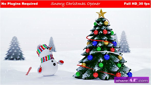 Videohive Snowy Christmas Opener