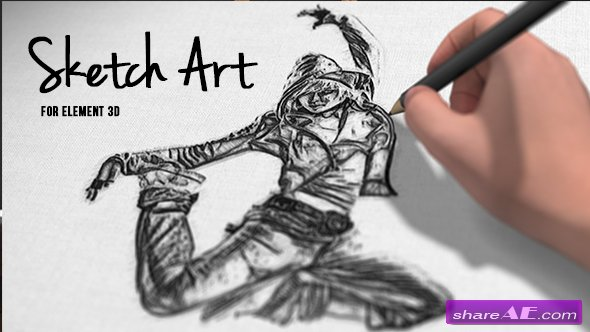 Videohive Pencil Sketch Art