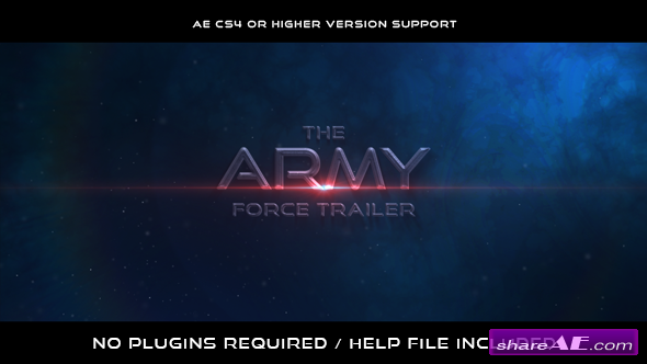 Videohive The Army Force Trailer