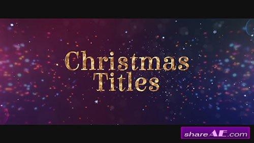 Christmas Titles - After Effects Template (Motion Array)