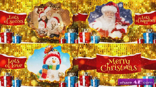 Videohive Merry Christmas Gold