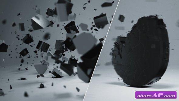 Videohive Elegant 3D Shatter Logo