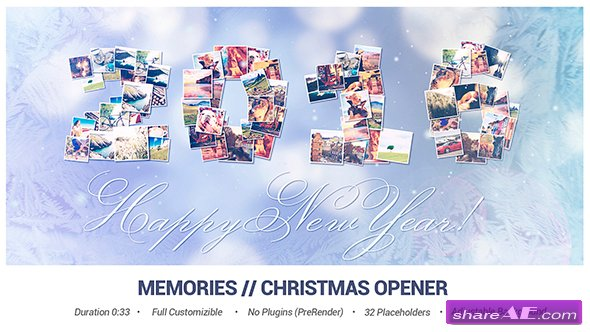 Videohive Memories // Christmas Opener