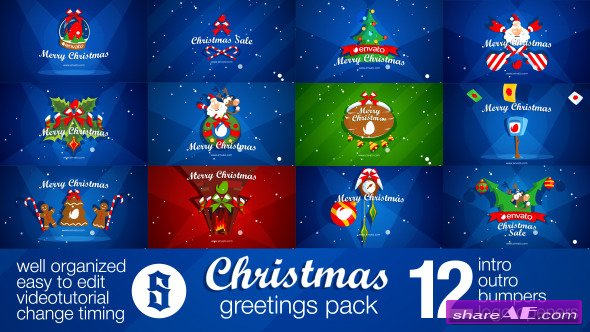 Videohive Christmas Pack Intro - Outro - Logo Openers
