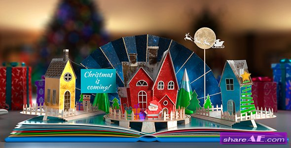 Videohive Christmas Pop-Up Book 2