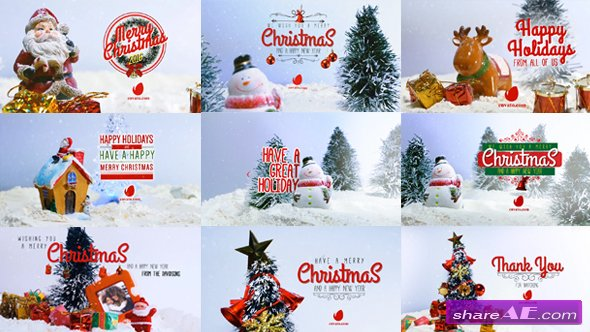 Videohive 10 Miniature Christmas Wishes