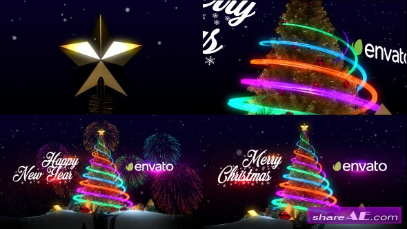 Videohive Christmas Tree & New Year Greetings