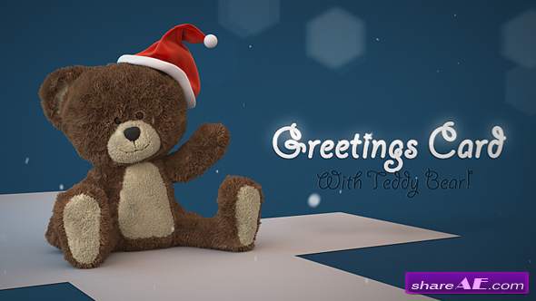 Videohive Christmas Teddy Bear Greetings