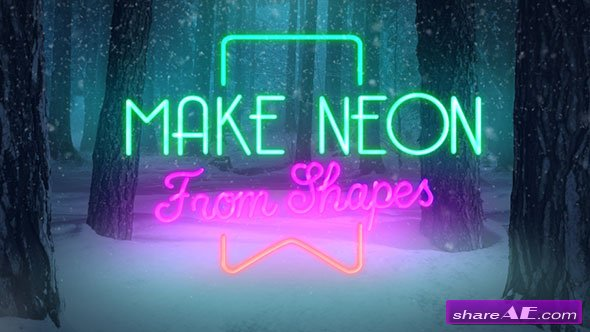 Videohive Christmas Forest Opener - Neon