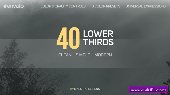 Videohive 40 Lower Thirds