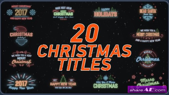 Videohive 20 Christmas Titles