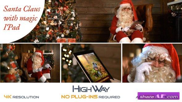 Videohive Santa Claus With Magic IPad
