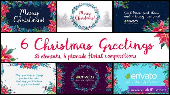 Videohive 6 Christmas Greetings