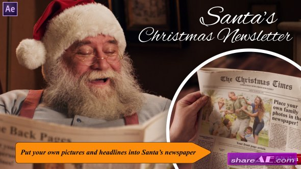 Videohive Santa's Christmas Newsletter