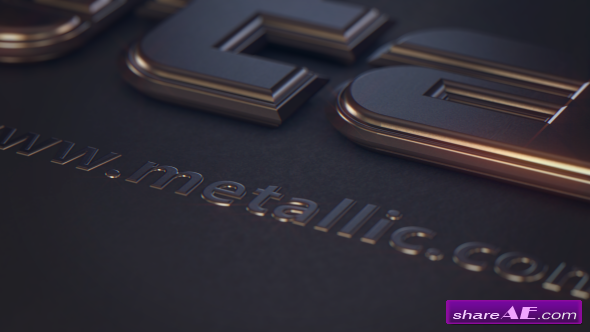 Videohive Metallic Text