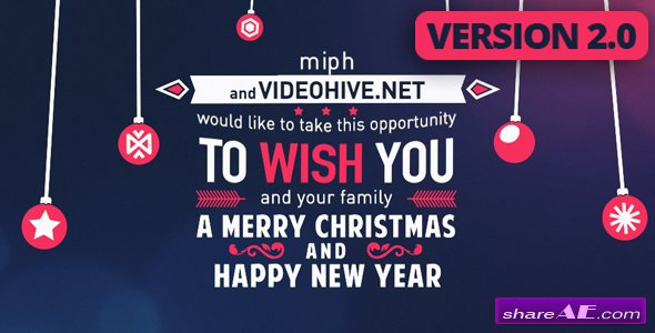 Videohive Christmas Typography