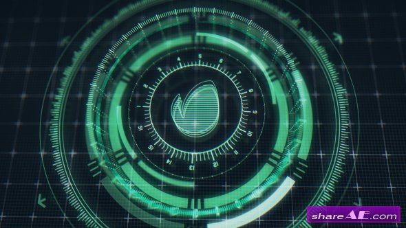Videohive Futuristic HUD Logo Reveal