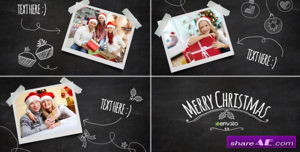 Videohive Christmas Blackboard