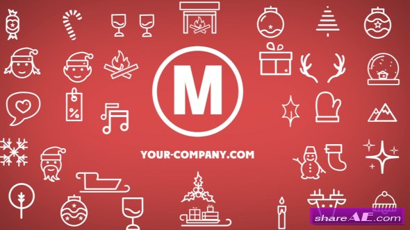 Videohive Minimal Christmas Icons