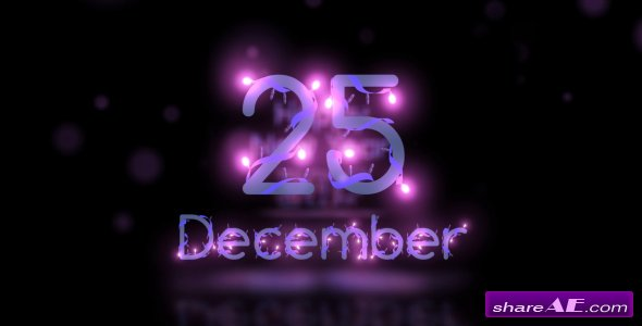 Videohive Christmas Lights Font