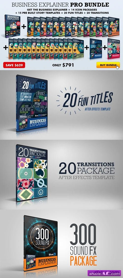 The Business Explainer Pro Bundle - After Effects Templates (BlueFX)