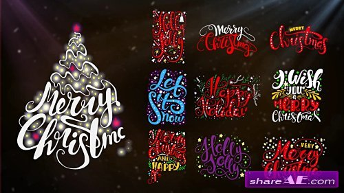 10 Christmas Lettering - After Effects Template (Motion Array)