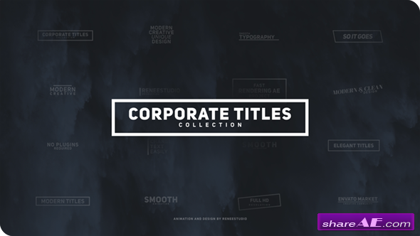 Videohive corporate titles pack free after effects for Free after effects title templates