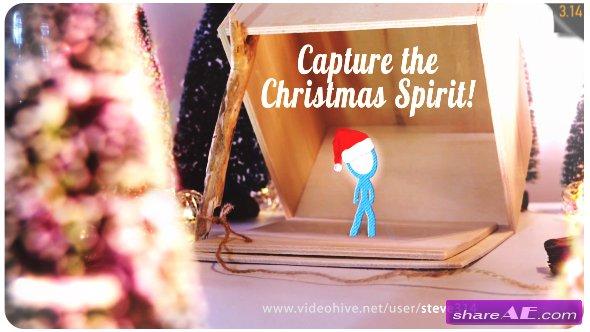 Videohive Capture the Christmas Spirit | Christmas Card Animation