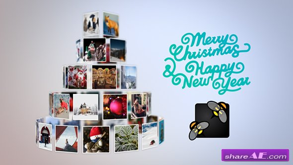 Videohive Christmas Tree Slideshow
