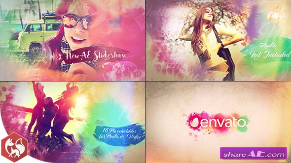 Videohive Watercolor Slideshow 17733386