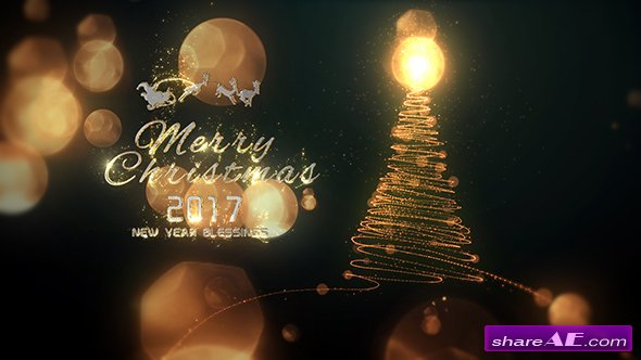 Videohive Christmas Particle Logo
