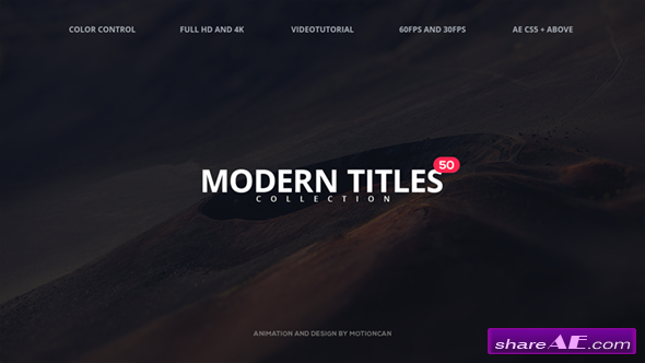Videohive 50 Modern Titles