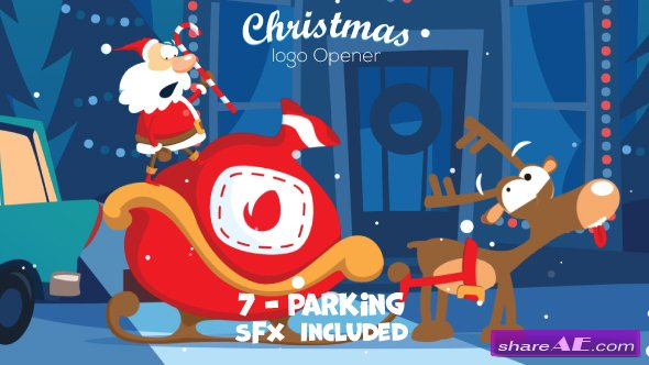 Videohive Christmas Logo Opener 7 - parking