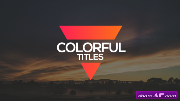 Videohive Colorful Titles