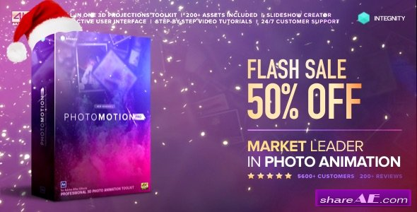 Videohive Photo Motion Pro - Professional 3D Photo Animator (Newyear Version)