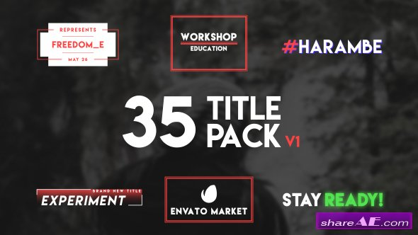 Videohive 35 Typography Title