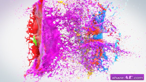 Videohive Colorful Splash Logo