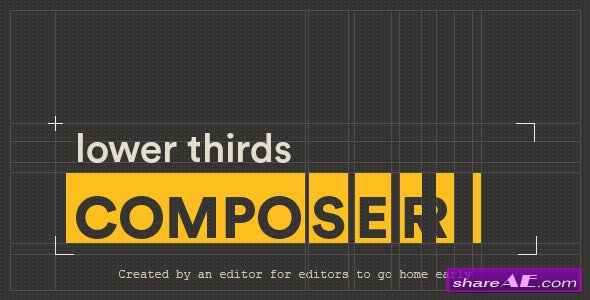 Videohive Lower Thirds Composer | After Effects Script