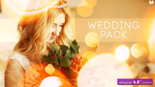Videohive Wedding Titles Slideshow Light Leaks